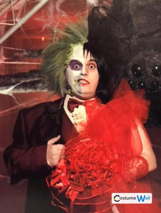 beetlejuice lydia the original red wedding halloween costume contest 2018