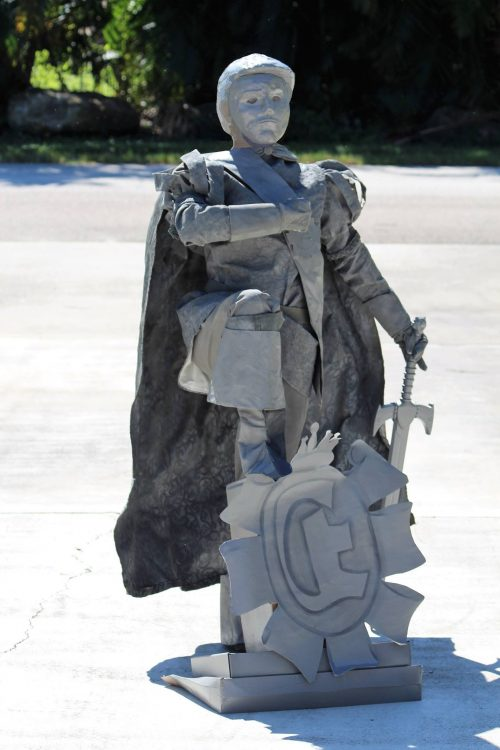 Statue of Prince Eric from the Little Mermaid