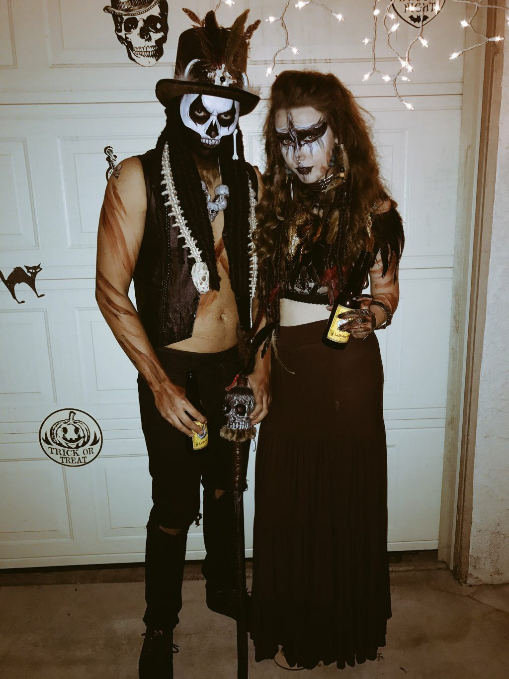 Voodoo Priestess and Her Witch Doctor | Halloween Costume Contest 2017