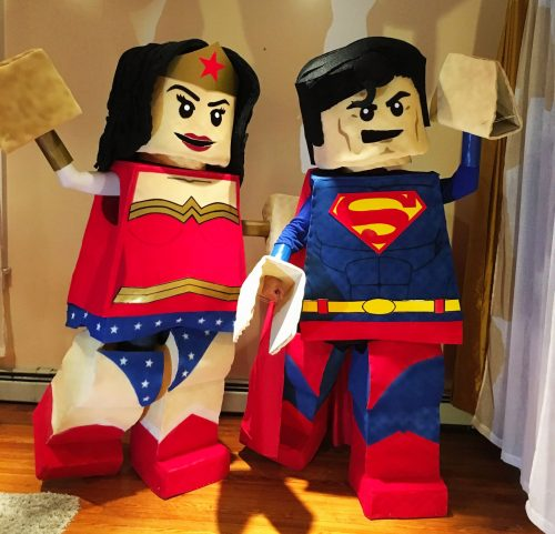 LEGO Superman and LEGO Wonder Woman