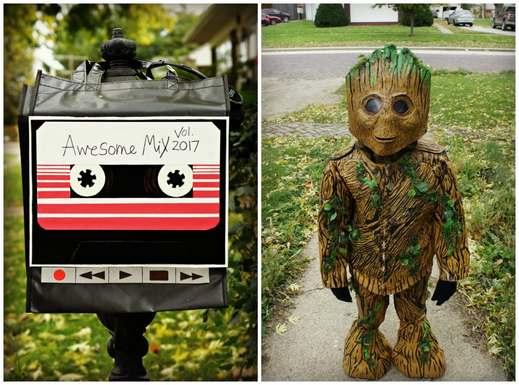Groot with Walkman with Awesome Mix Tape Treat Bag