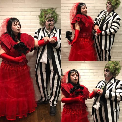 Lydia Deetz and Beetlejuice