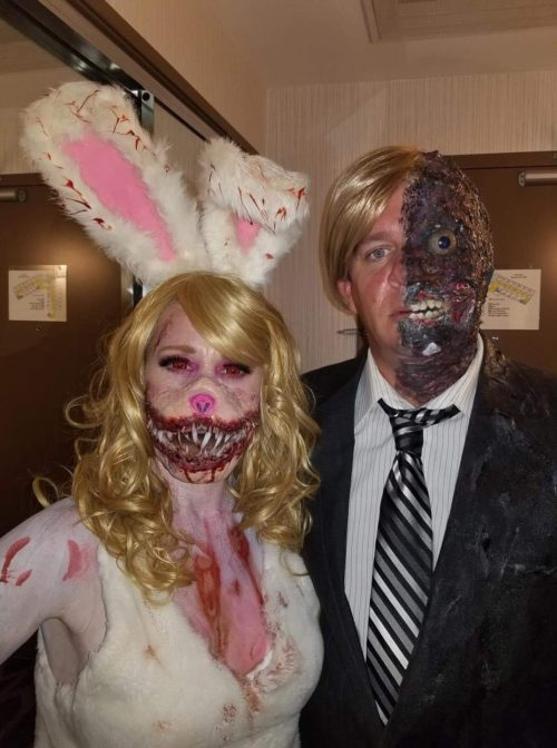 "Horror Bunny and Harvey Dent ""Two- Face"""