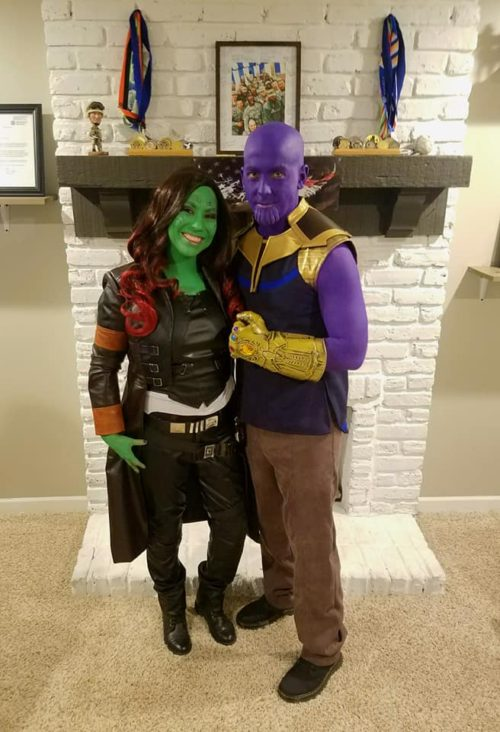 Thanos and Gamora