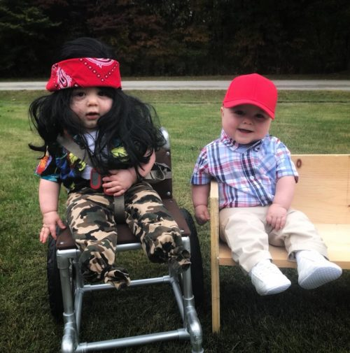 Baby Forrest Gump and Lt. Dan