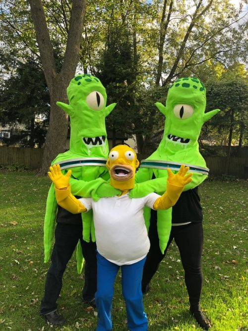 Treehouse of Horror – Kang, Kodos & Homer Simpson