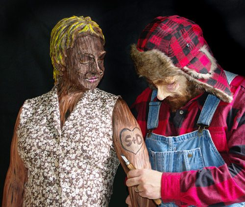 Woodsman and Wooden Doll