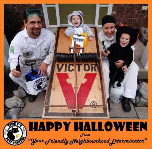 Pest Control Family (Mouse Trap Costume)