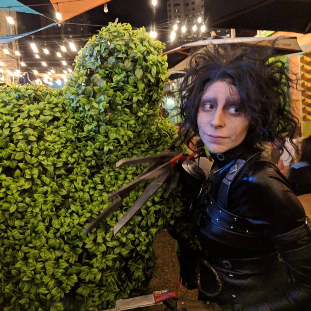 Edward Scissorhands and His Topiary Creation