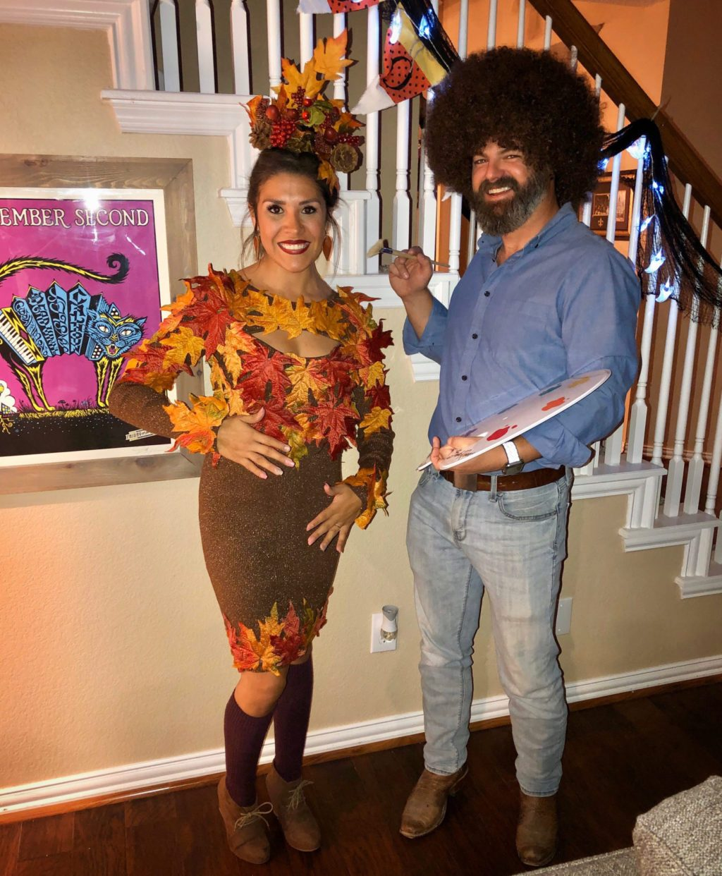 Bob Ross Costume – Get this and more creative halloween costume ideas here.