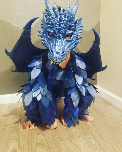 Fire Breathing Blue Dragon