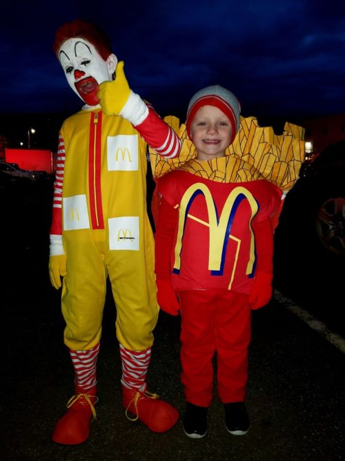 Ronald McDonald and French Fries