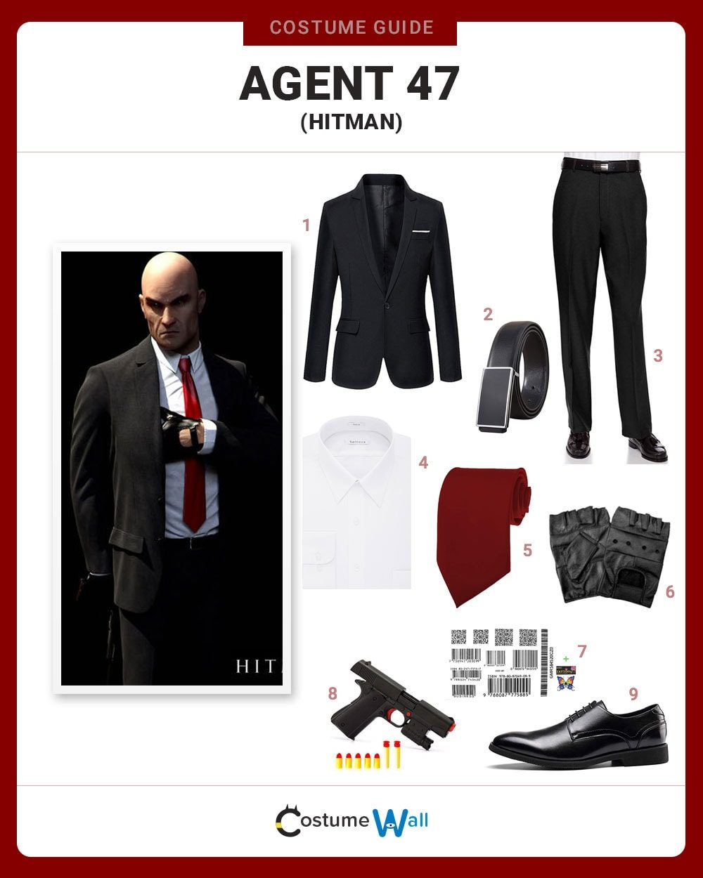 Dress Like Agent 47 Hitman Costume Halloween And Cosplay Guides