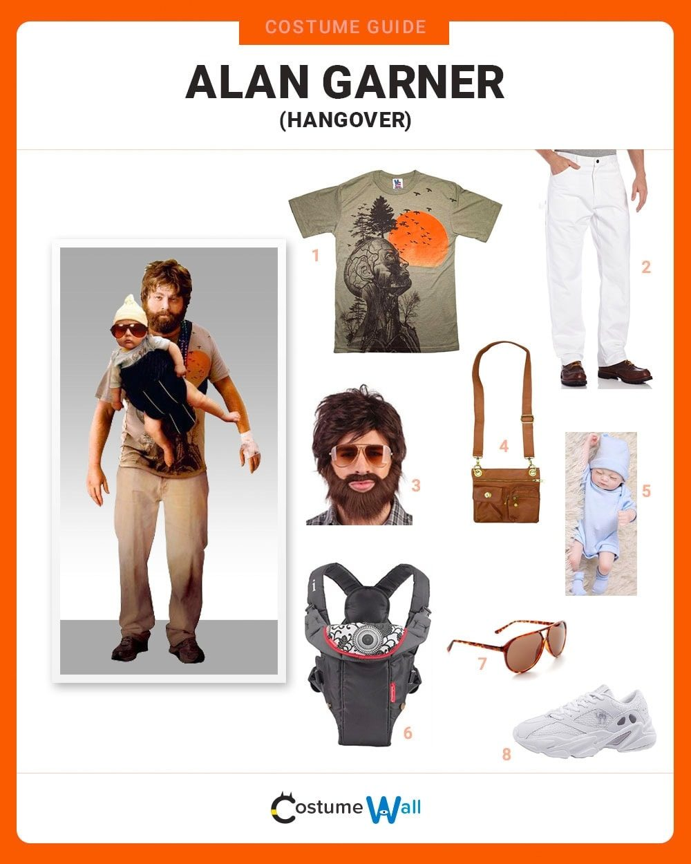Dress Like Alan Garner From The Hangover Costume Halloween And