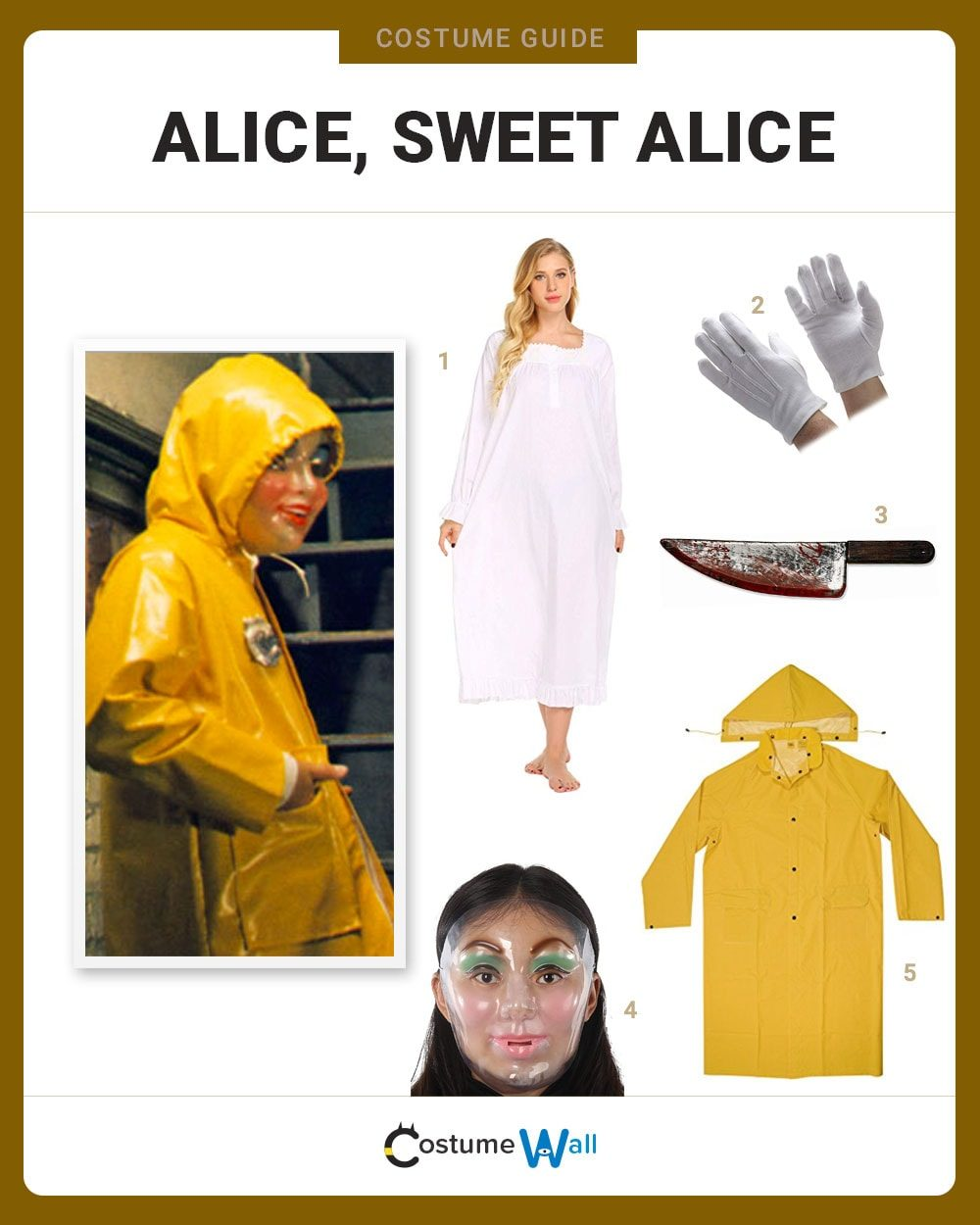 Alice, Sweet Alice Costume Guide