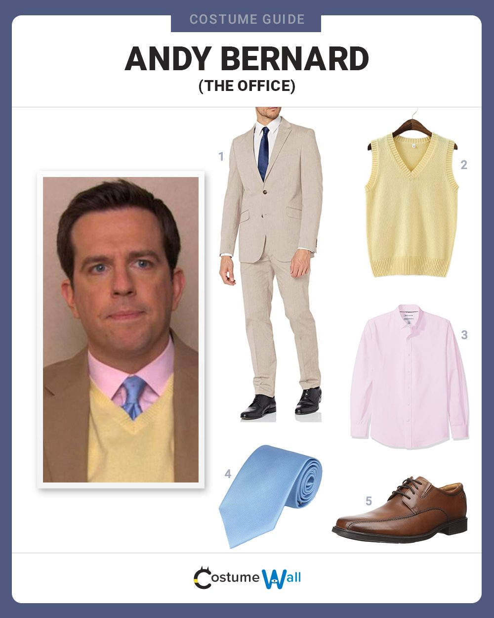 Andy Bernard Costume Guide