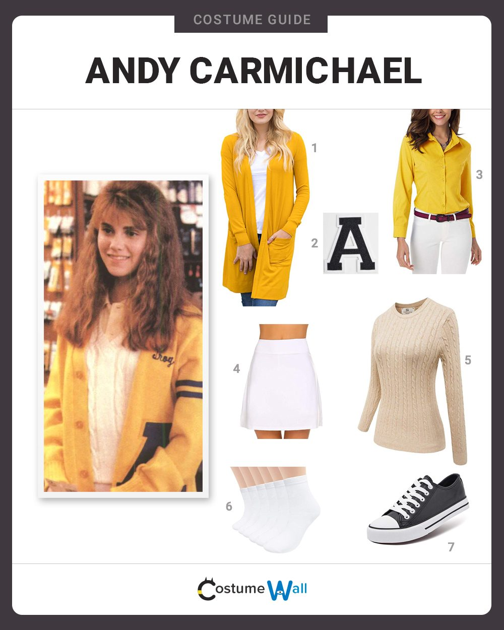 Andy Carmichael Costume Guide