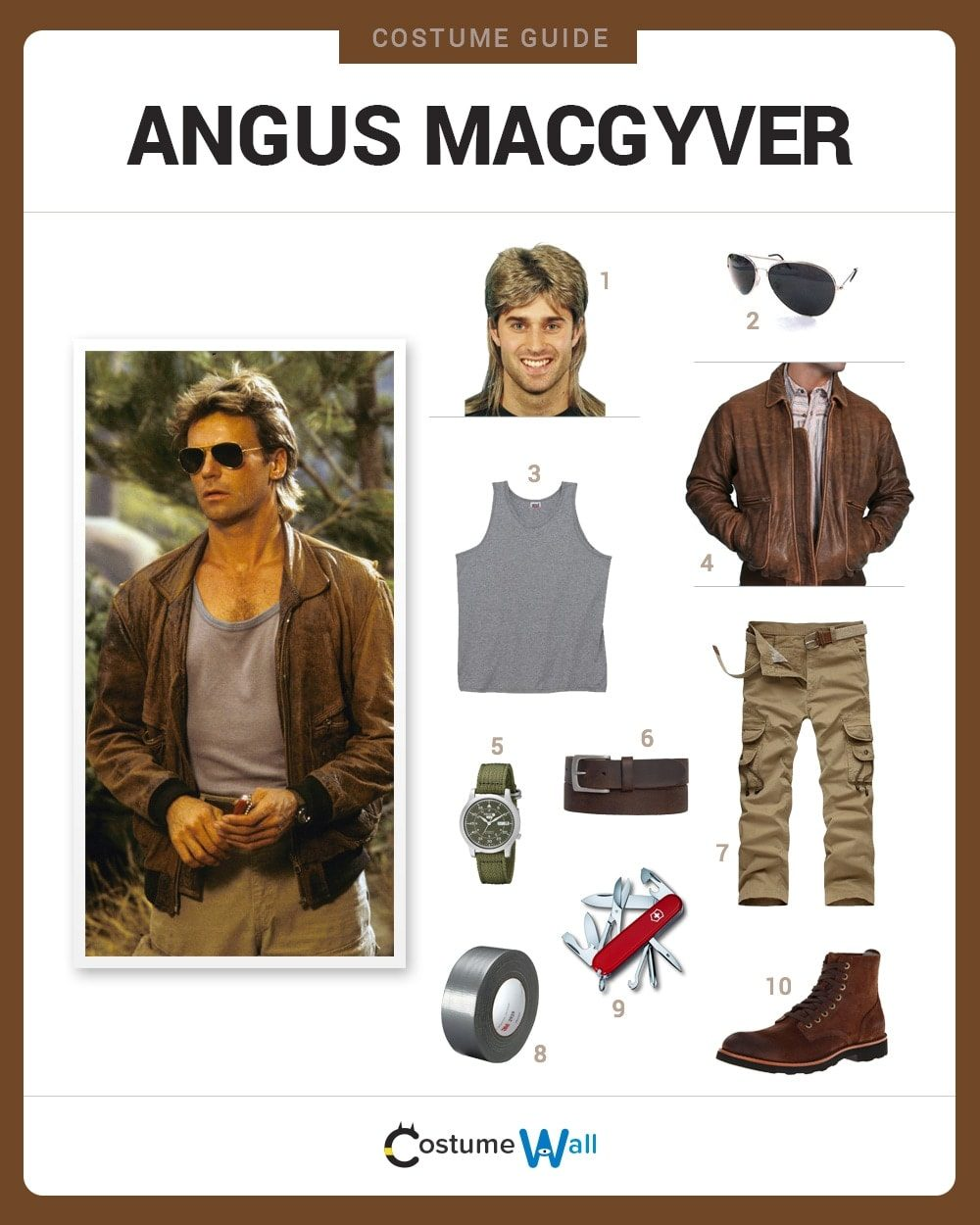 how to dress like angus macgyver - Macgyver Halloween Costume