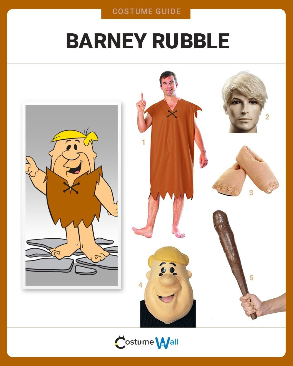Barney Rubble  Costume Guide