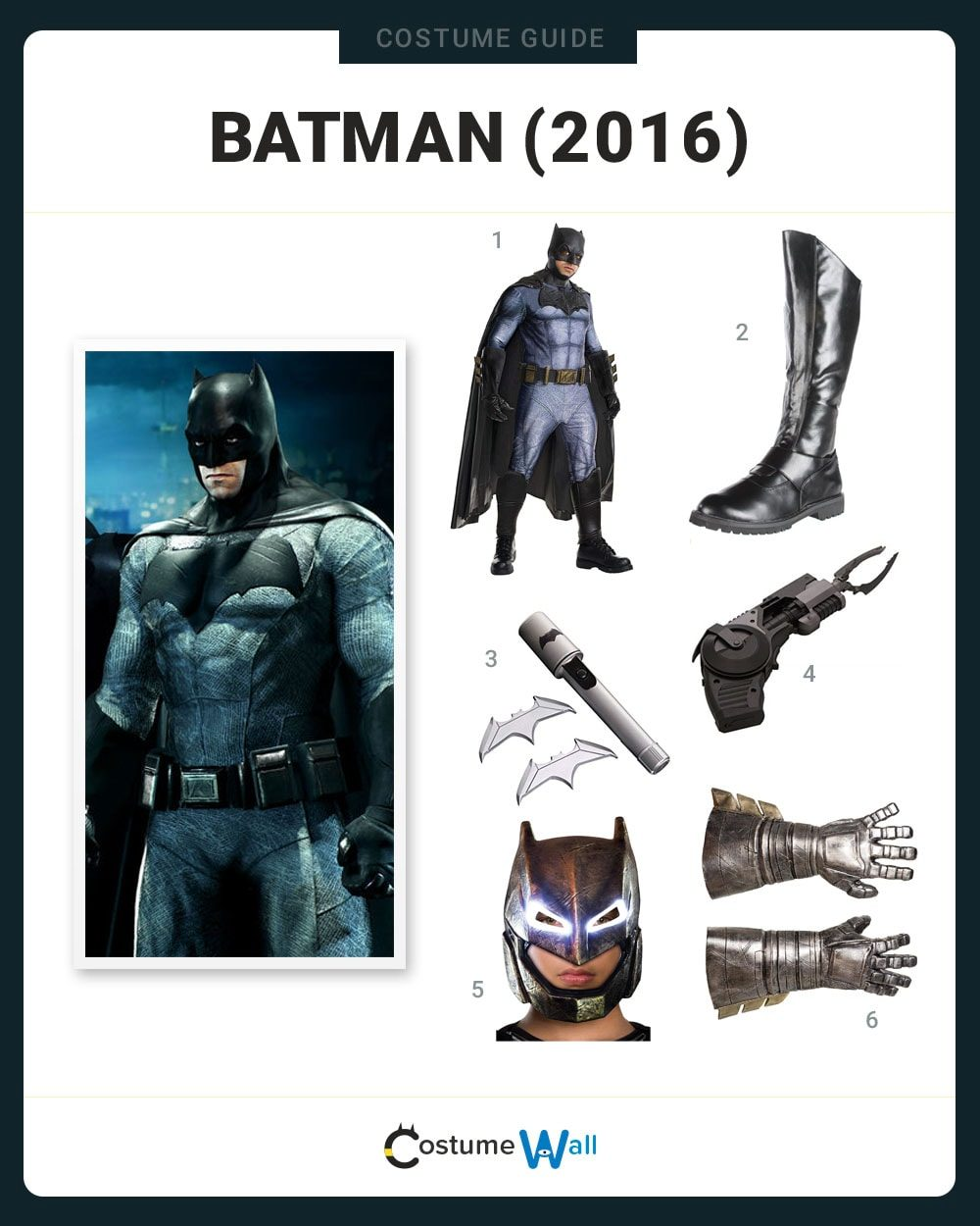 Batman (2016) Costume Guide