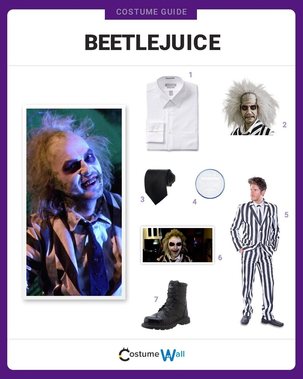Dress Like Beetlejuice Costume Halloween And Cosplay Guides