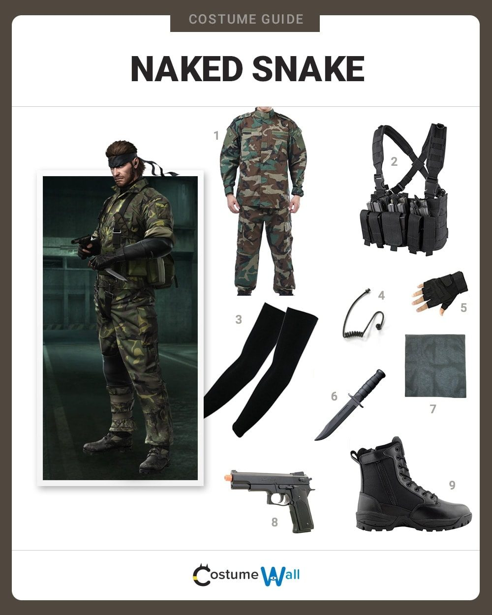 Naked Snake Costume Guide