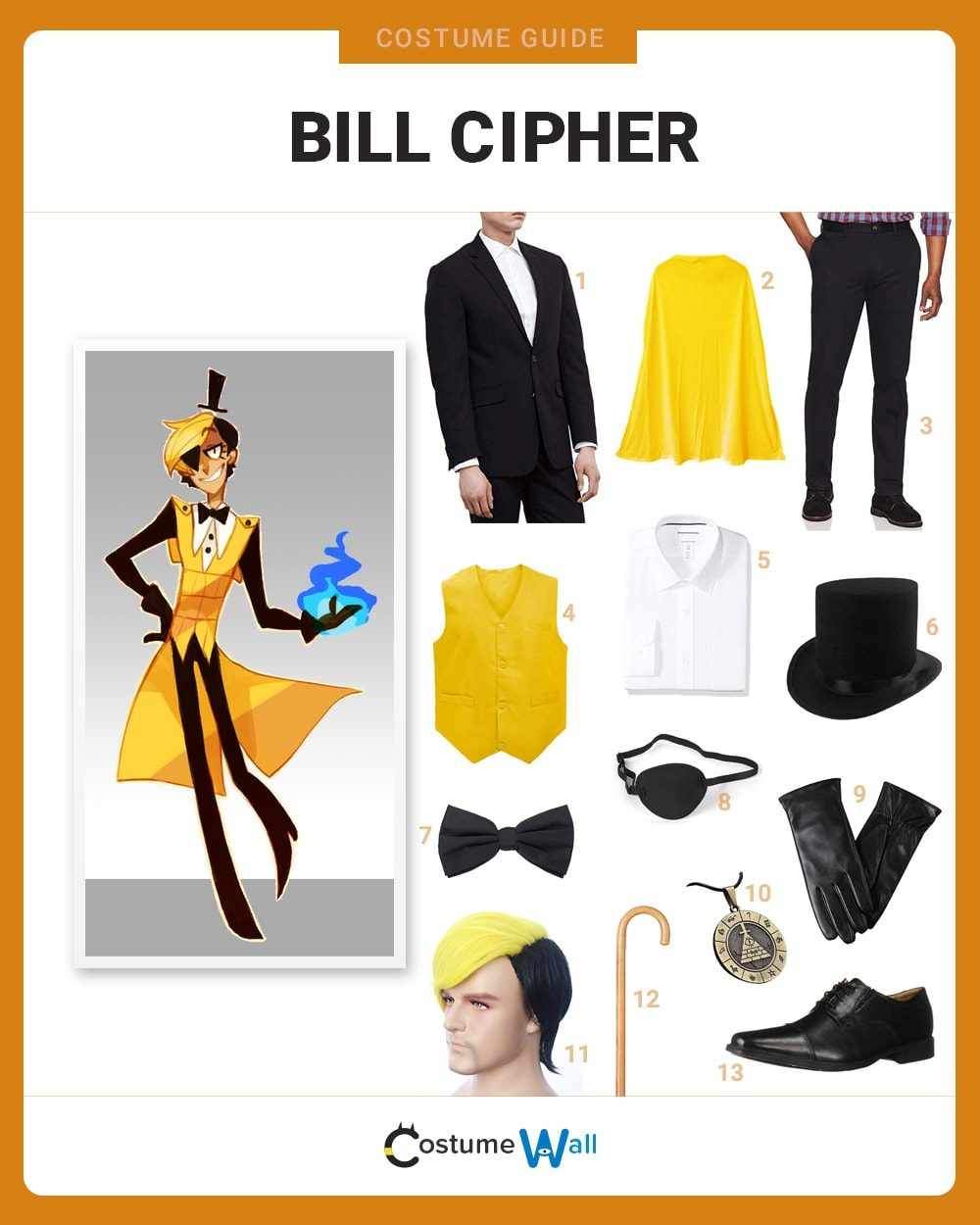 Bill Cipher Costume Guide