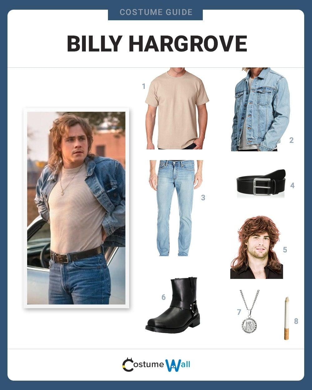 Billy Hargrove Costume Guide