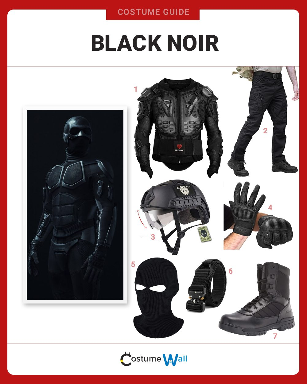 Black Noir Costume Guide