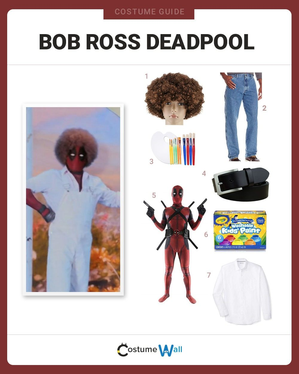 Bob Ross Deadpool Costume Guide