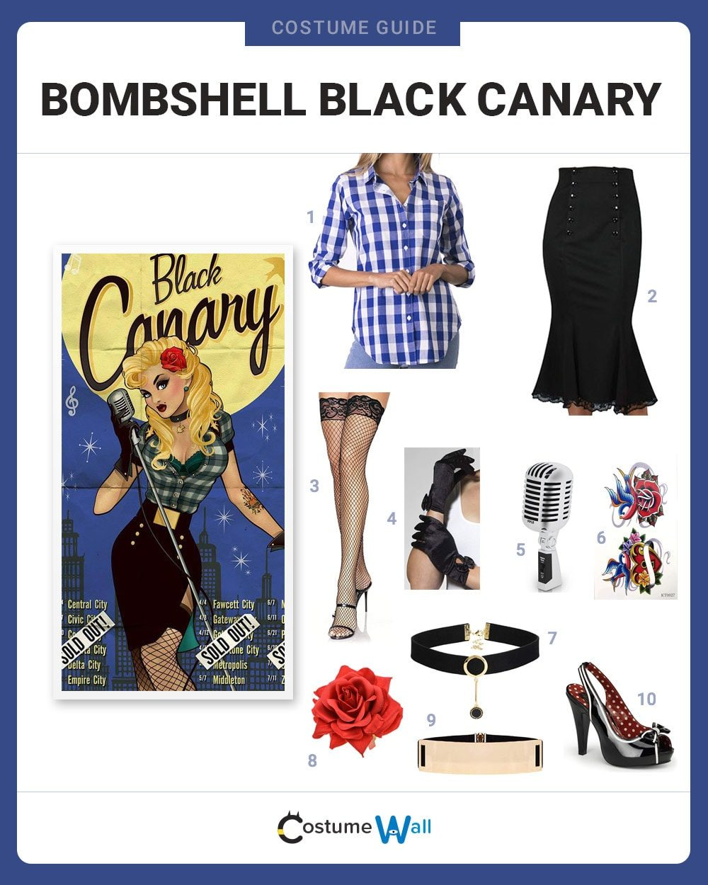 Bombshell Black Canary Costume Guide