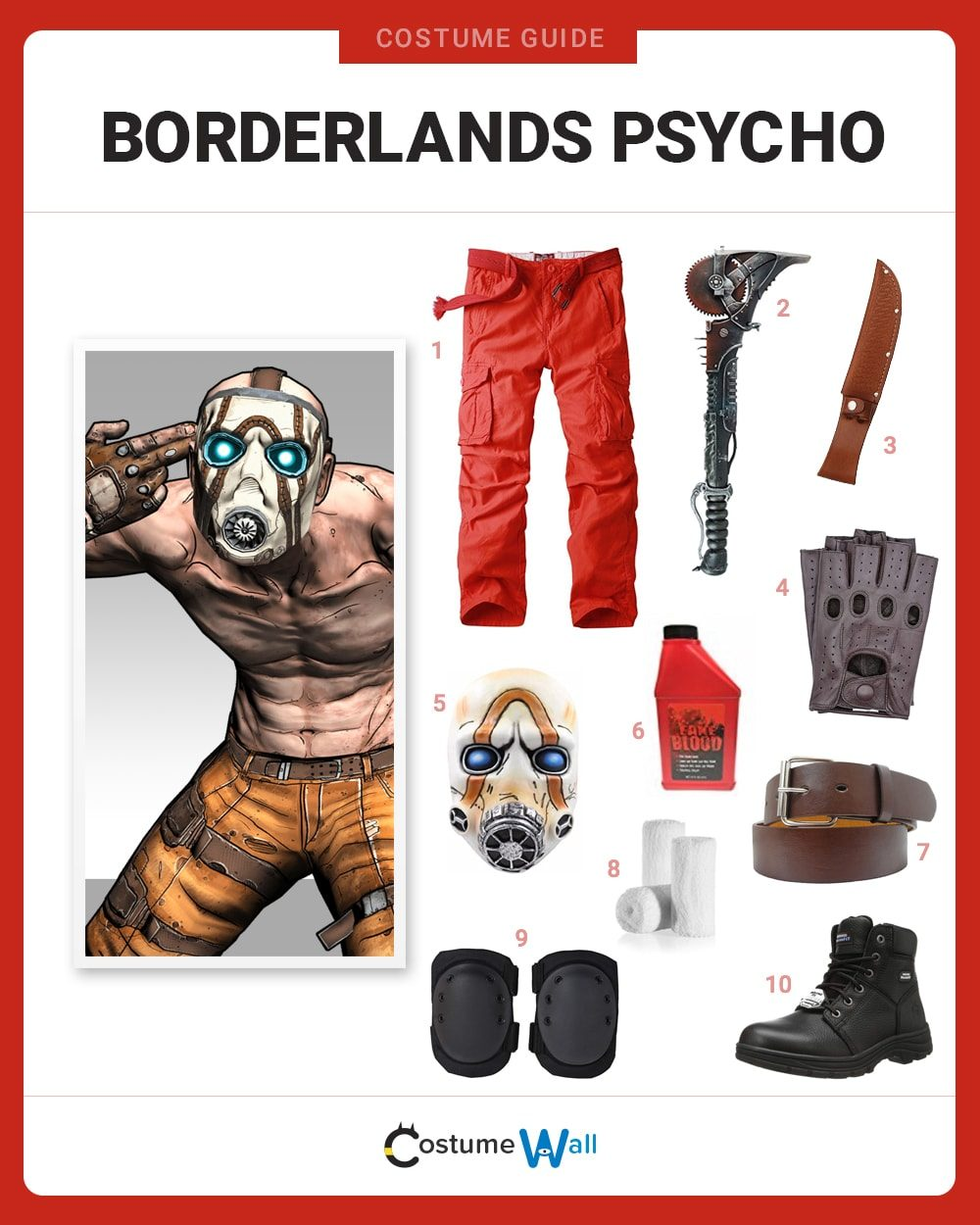 Borderlands Psycho Costume Guide