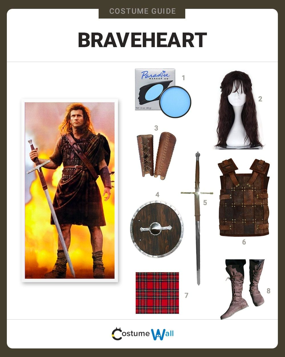 Costume Breakdown  sc 1 st  Costume Wall & Dress Like Braveheart Costume | Halloween and Cosplay Guides