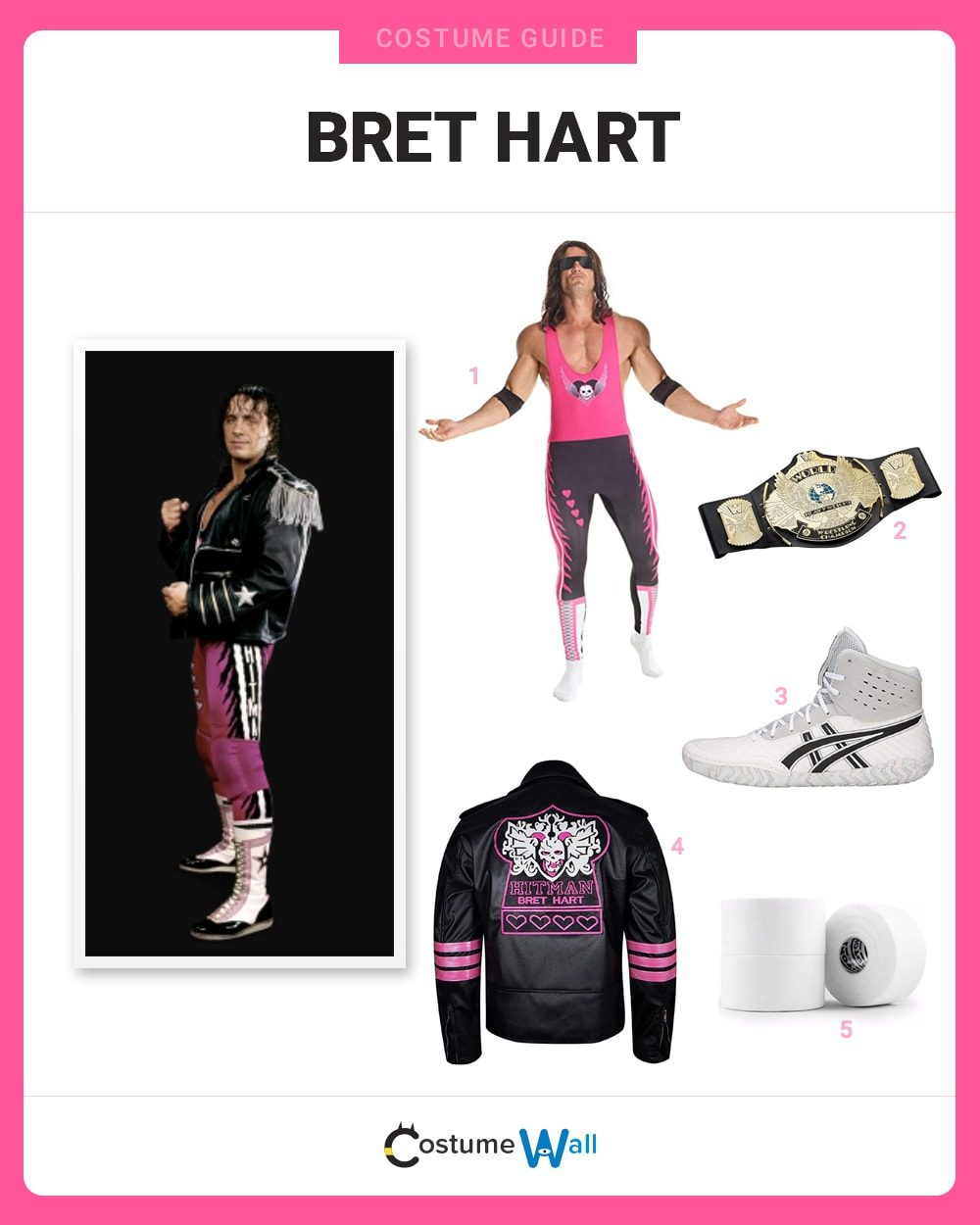 Bret Hart Costume Guide