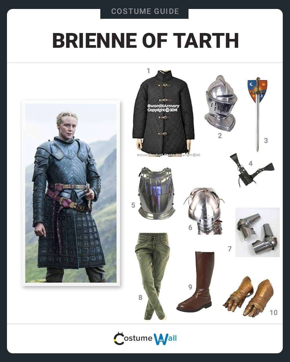 Brienne of Tarth Costume Guide
