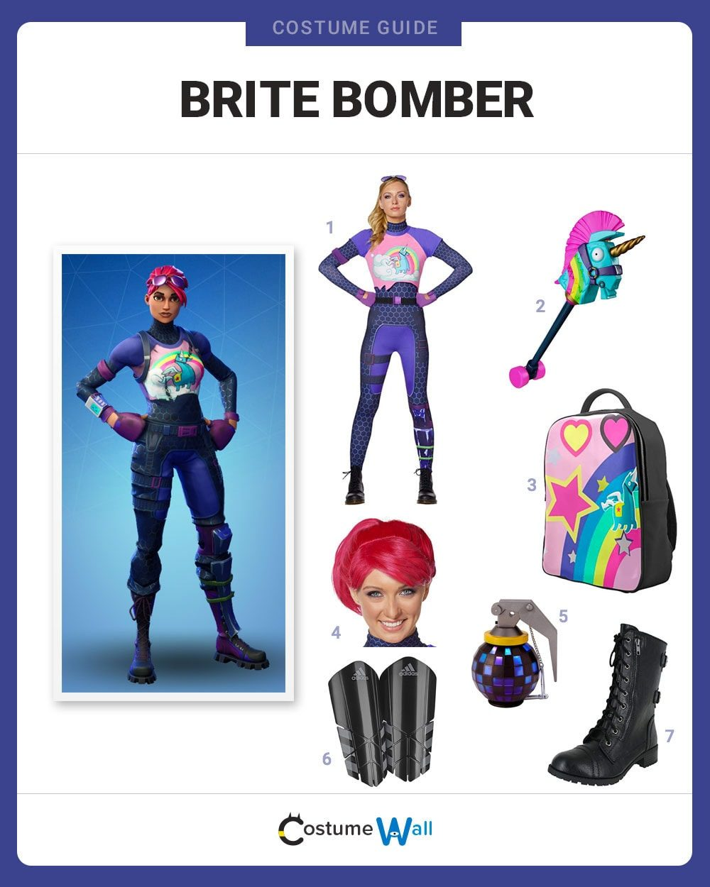 Dress Like Brite Bomber From Fortnite Costume Halloween And
