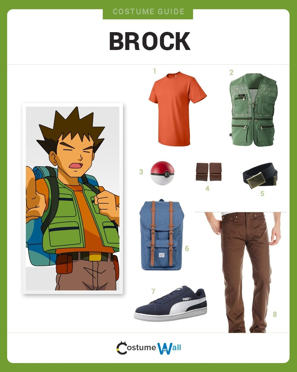 Brock Costume Guide