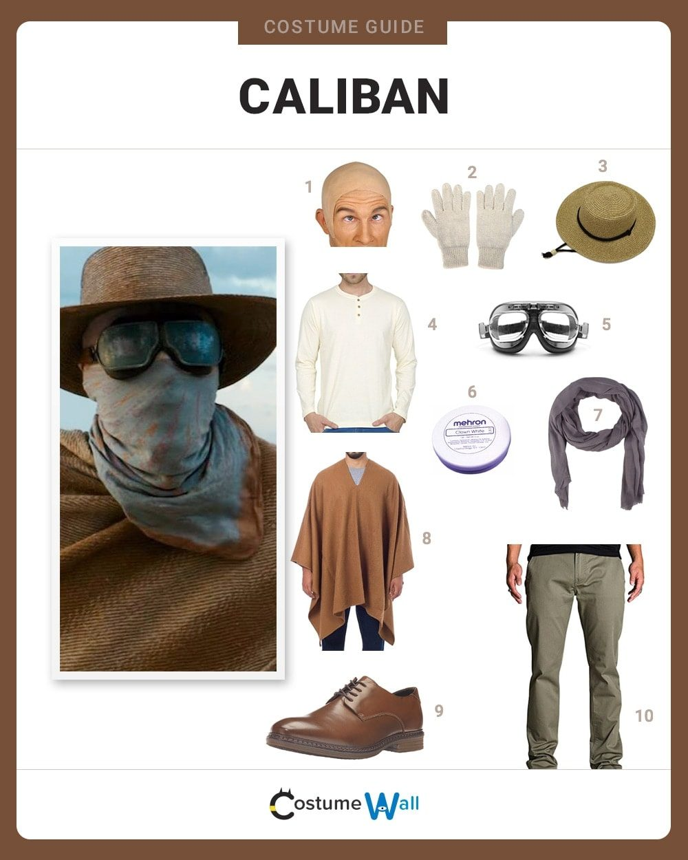 Caliban Costume Guide