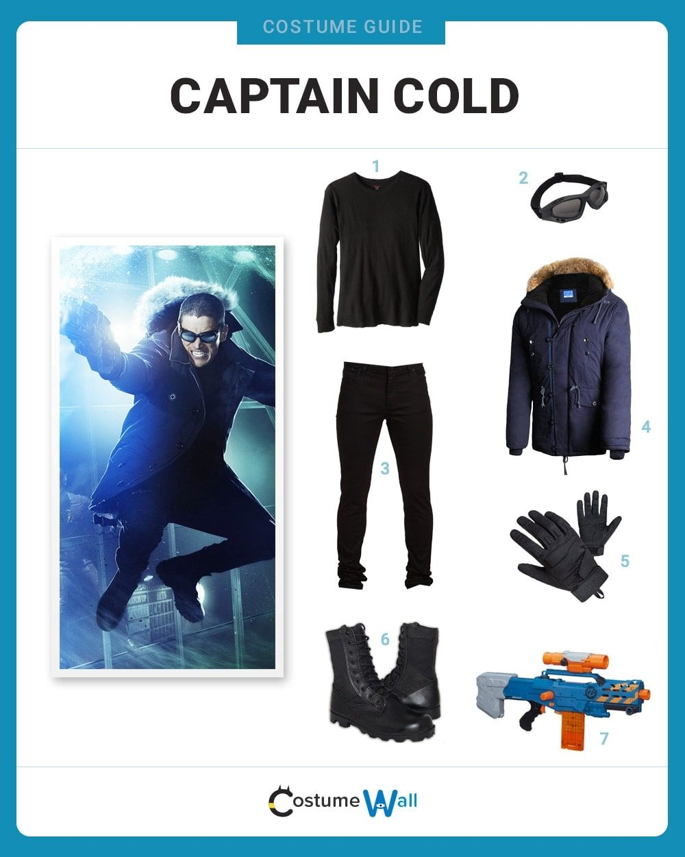 Dress Like Captain Cold Costume Halloween And Cosplay Guides