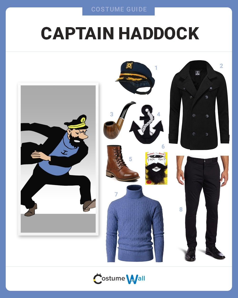 Captain Haddock Costume Guide