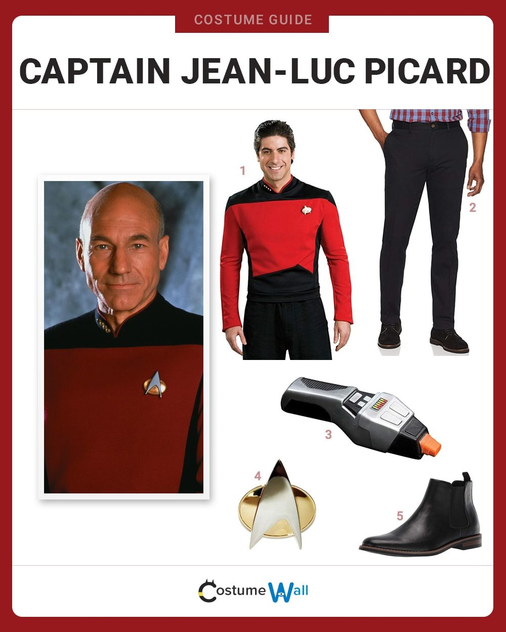 Captain Jean-Luc Picard Costume Guide
