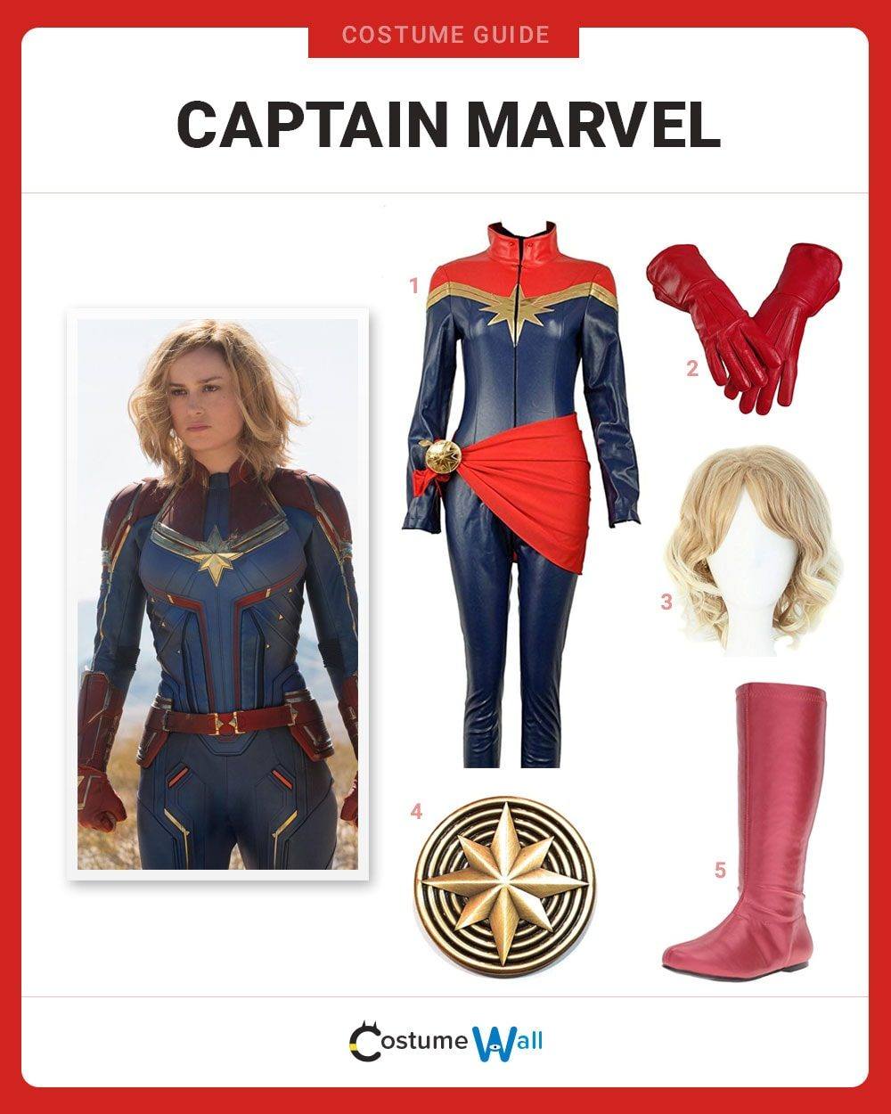 Captain Marvel Costume Guide