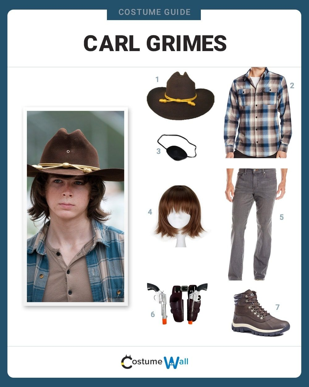 Costume Breakdown  sc 1 st  Costume Wall & Dress like Carl Grimes Costume | Halloween and Cosplay Guides