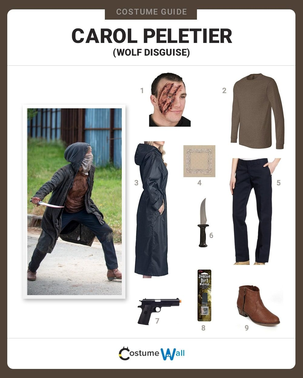 Carol Peletier (Wolf) Costume Guide