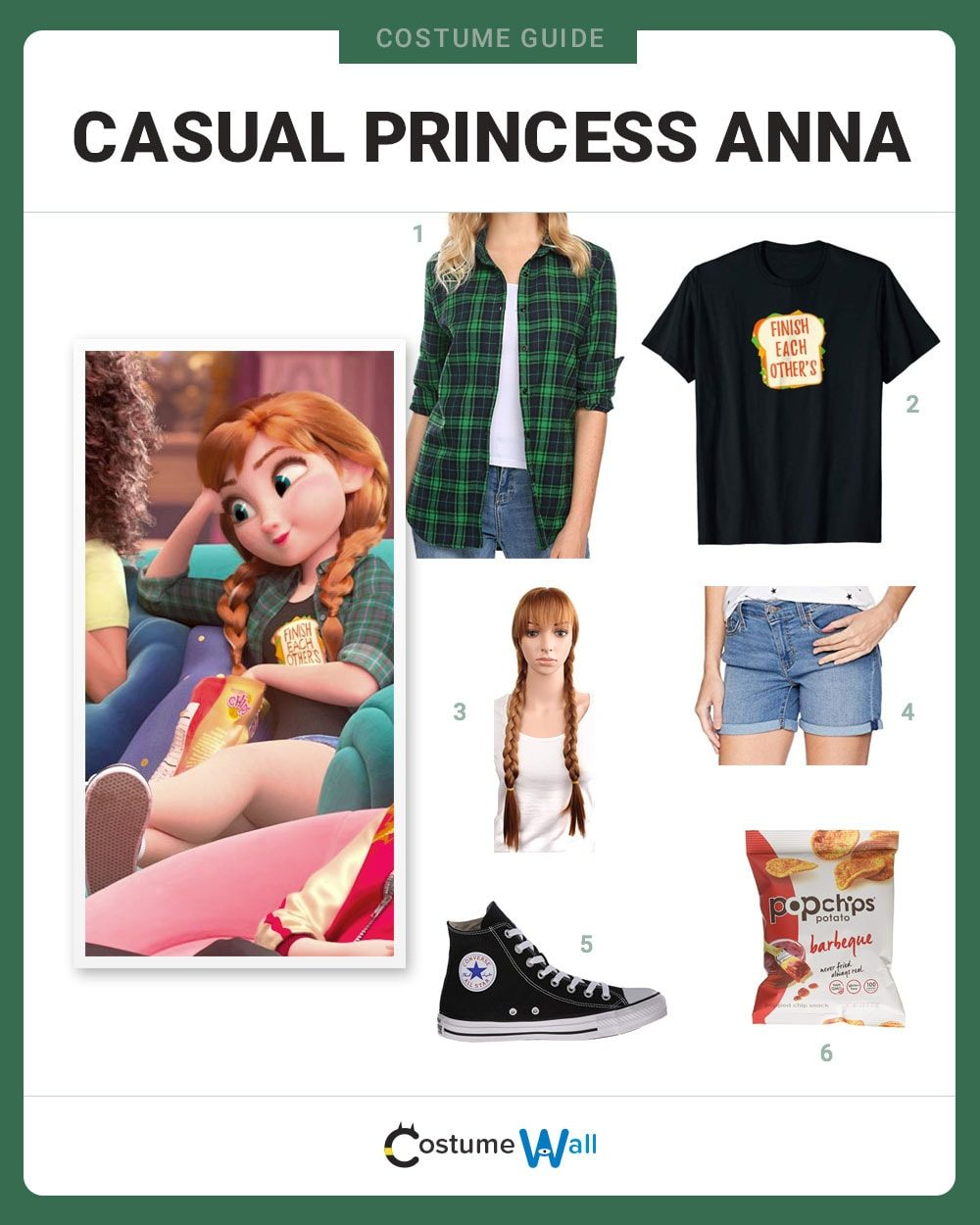 Dress Like Casual Princess Anna Costume Halloween And Cosplay Guides