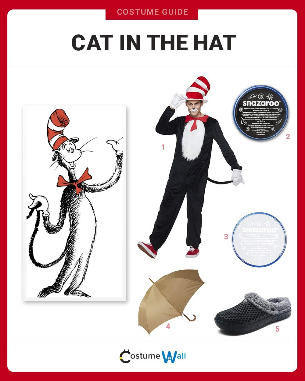 Cat in the Hat Costume Guide