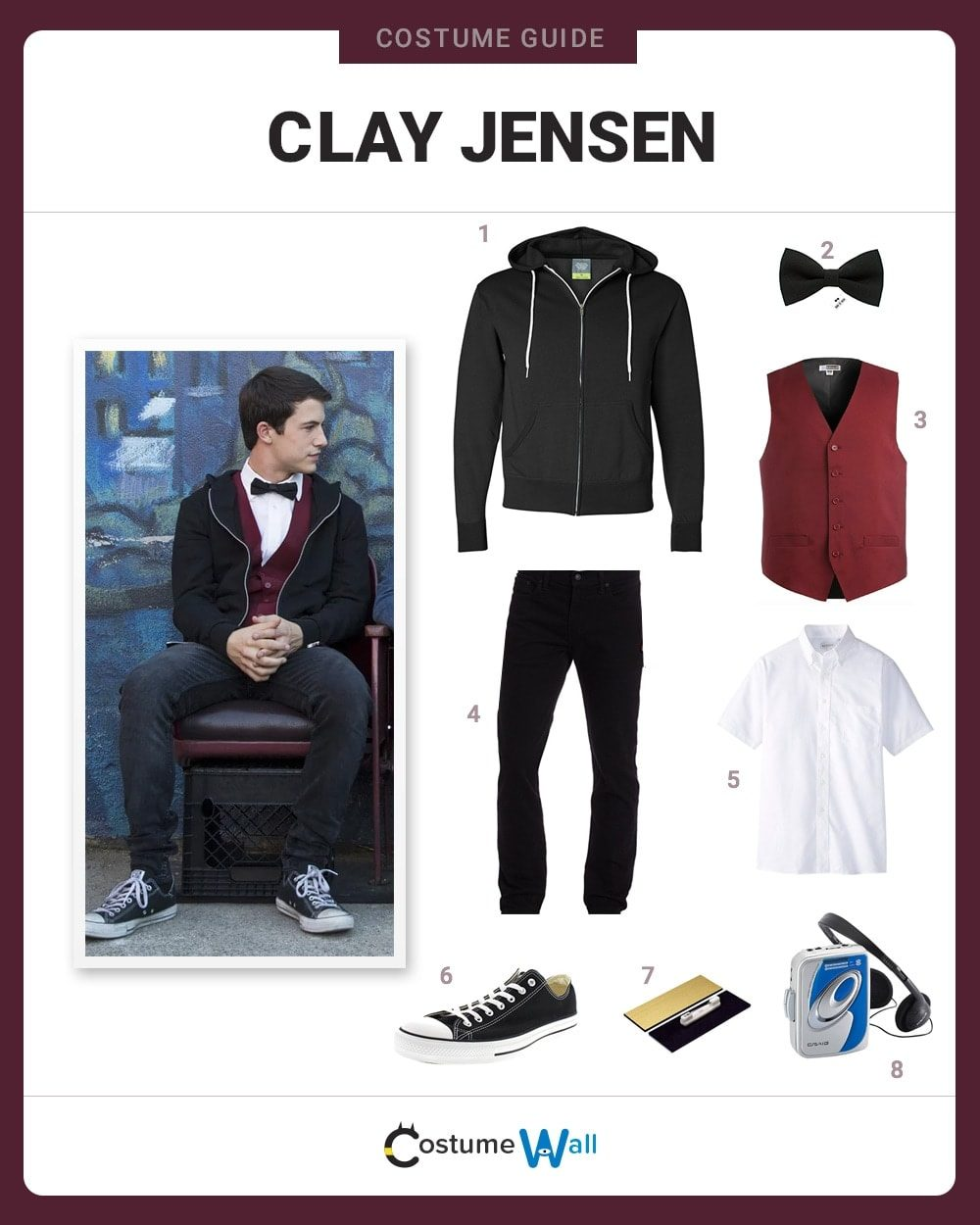 Dress Like Clay Jensen Costume Halloween And Cosplay Guides