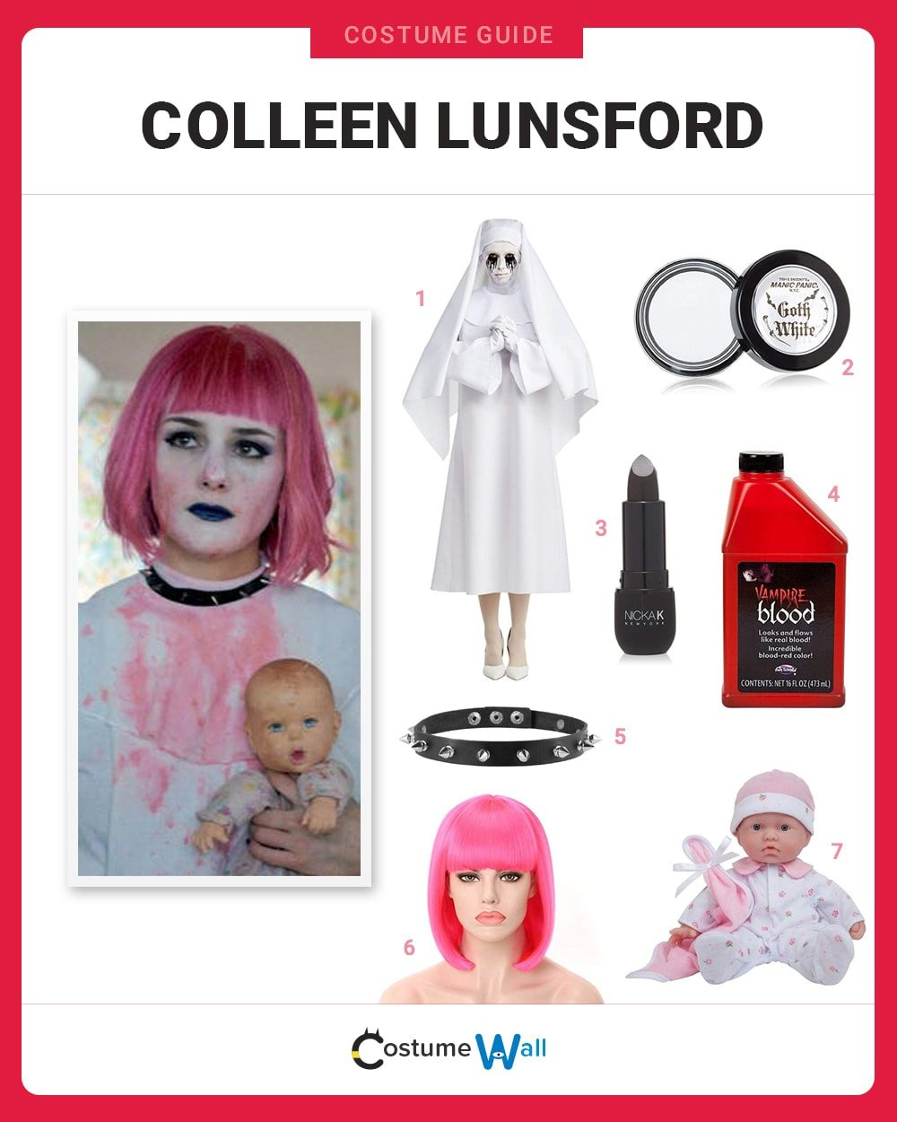 Colleen Lunsford Costume Guide