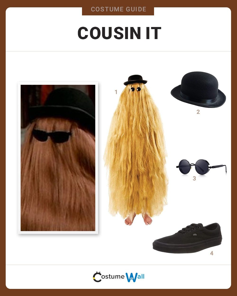 Cousin It  Costume Guide