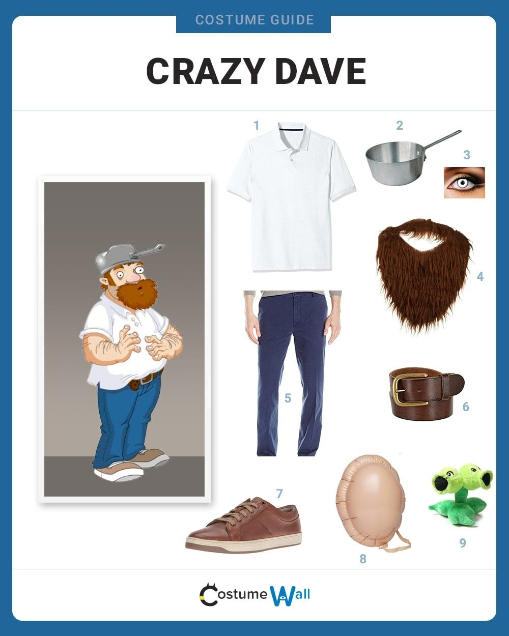 Crazy Dave Costume Guide